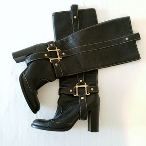 DOLCE & GABBANA Leather Heeled Boots
